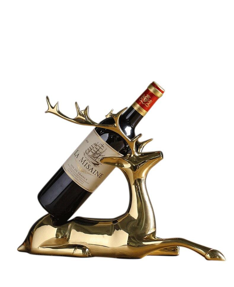 Creative élégant pur cuivre elk casier à vin style salon armoire à vin fer casier à vin décoration artisanat ornements créatifs - 5