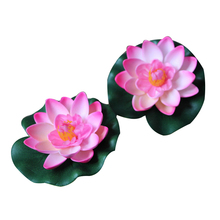 Quarium Fish Pond Fake Flower Decoration 1pcs Artificial Outdoor Pool Pond Floating Lotus AWater Grass Decor Garden Decor стоимость