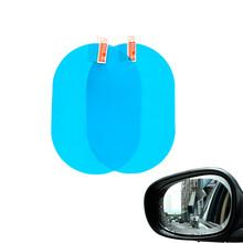 2 sztuk zestaw naklejka na samochodowe lusterko wsteczne odporny na deszcz Film boczna szyba wodoodporna Antifog Film naklejka z PVC na samochód uniwersalna ochrona Film tanie tanio CN (pochodzenie) Klej naklejki Zmiana koloru Inne Nie pakowane