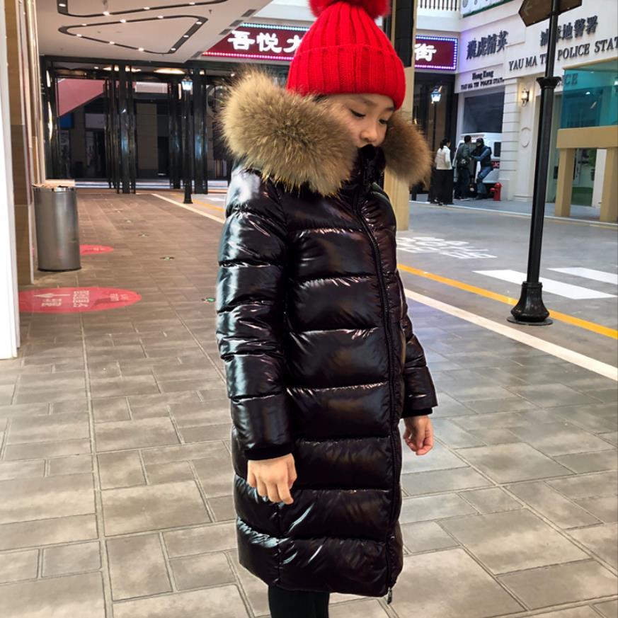2019 Одежда для девочек до-30 градусов зимние куртки-пуховики теплая плотная одежда детская верхняя одежда для мальчиков, парка От 3 до 14 лет, ...