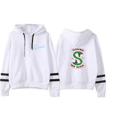 2019 Riverdale Surrounding Hooded Sweatshirt women Plus velvet Keep warm Brand Hoodie womens High street clothes tops(China)