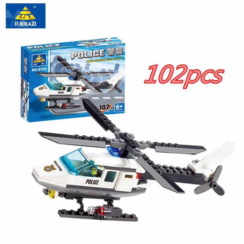 102pcs Aircraft Helicopter DIY Building Blocks Kit Bricks Set Brand Toys Compatible Legoings Gifts For Children