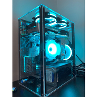 Full side transparent acrylic horizontal computer mainframe desktop assembly personality atx creative chassis