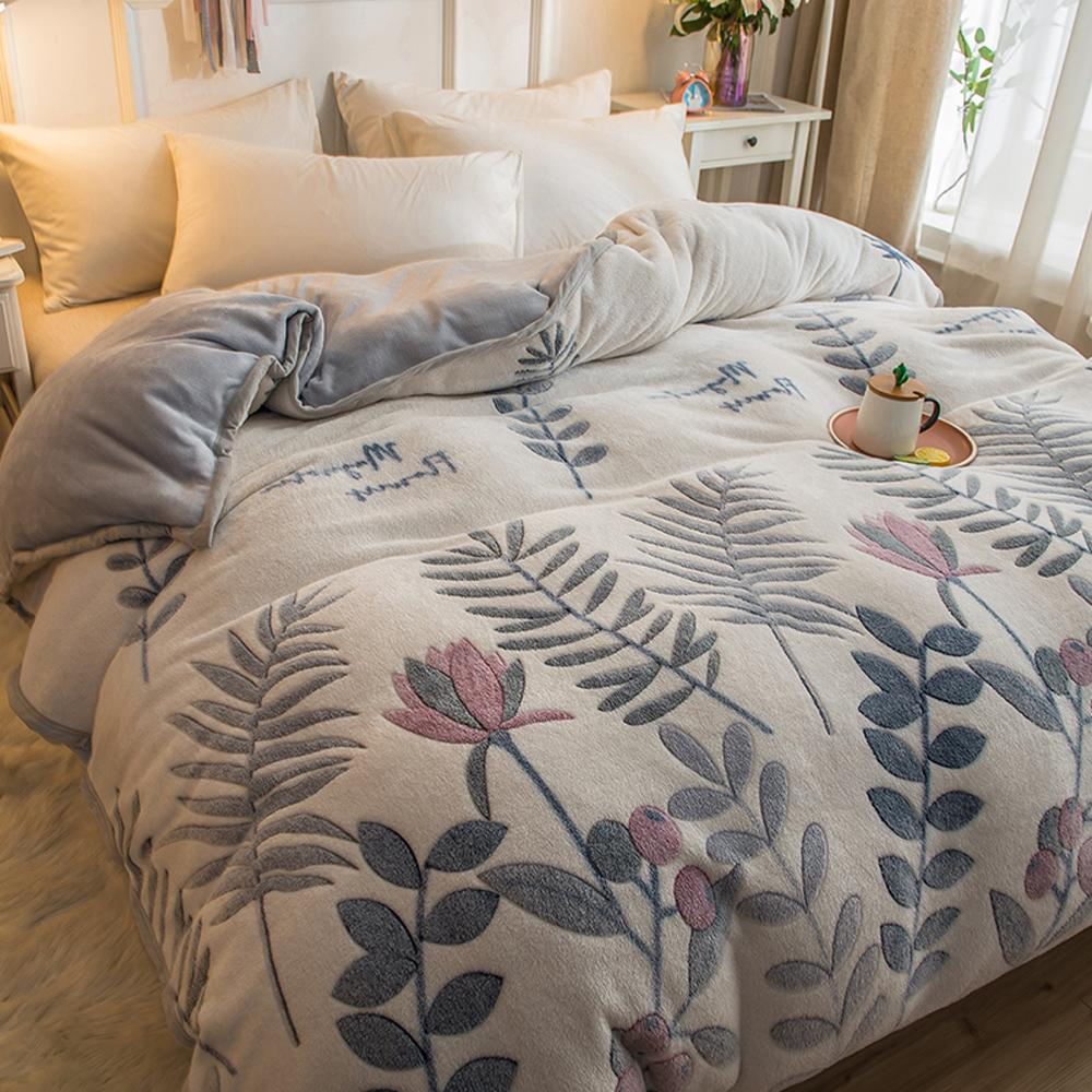 27  Home Textiles 1pcs  Flannel Quilt Cover Soft Warm Coral Fleece Blanket Winter Quilt Cover Throw Mechanical Wash