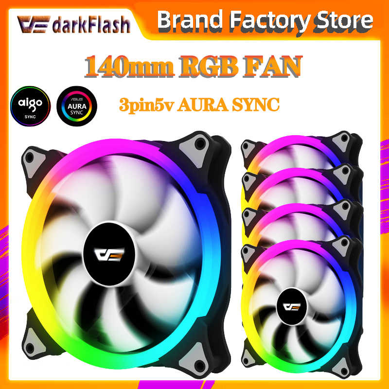 Aigo Aura Sync CS140 Computer Case Pc Fan Radiator Fan Rgb Passen Led 140Mm Cooling Koeler Stille Ventilator Draadloze afstandsbediening