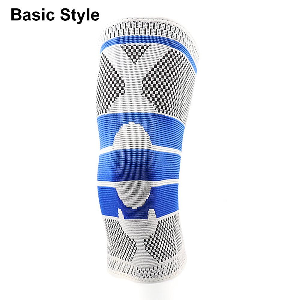 Противоскользящие наколенники для поддержки суставов, Защитные Спортивные наколенники, дышащие, 1/2 шт, мощность подъема, мощная сила отскока, наколенник - Цвет: Basic 1