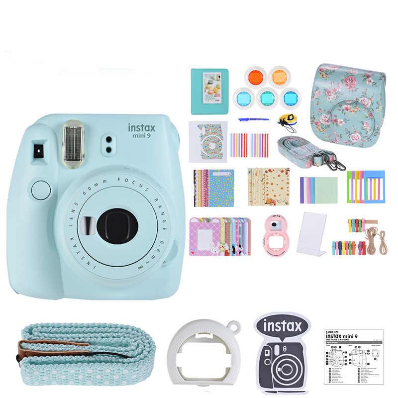 Fujifilm Instax Mini 9 aparat natychmiastowy do kamery filmowej z lustrem Selfie aparat natychmiastowy pakiet akcesoriów zestaw z 20 papier fotograficzny