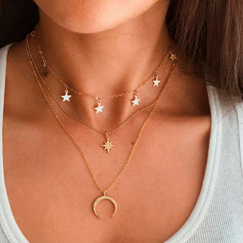New Bohemian Multilayer Cross Gold Pendant Necklace For Women Punk Letter Choker Necklaces 2020 Fashion Words Jewelry Party Gift