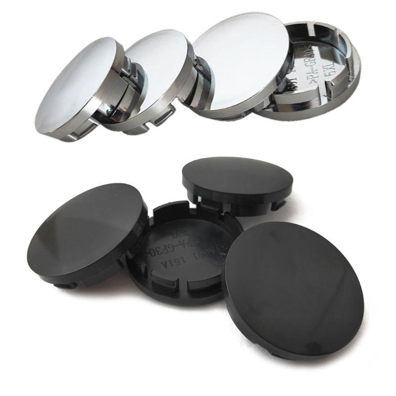 4pcs/Set 56mm Car Wheel Center Hub Caps Universal ABS Vehicle Tyre Tire Rim Cover Protector Decorations