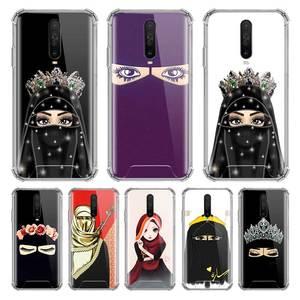 Hijab Girl Muslim Islamic Eyes Case For Xiaomi Mi Note 10 Pro 9T A3 A2 Lite CC9 CC9E Poco X2 Airbag Anti Fall Phone Covers