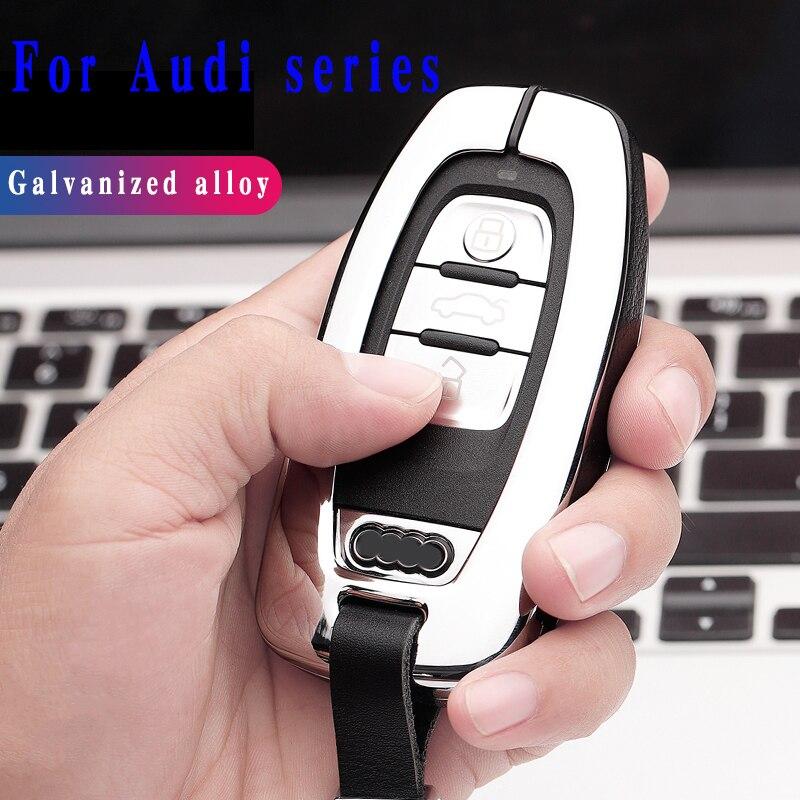 2020 новый стиль высокое качество сплав чехол для автомобильного ключа для Audi A4L A6L Q5 A8 A5/A7 S5/S7 Интеллектуальный 3 кнопки пульт дистанционного управления без ключа