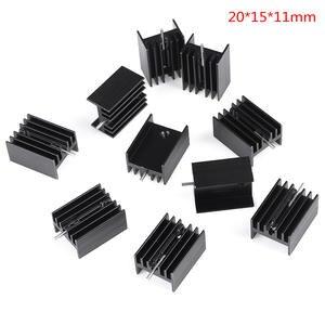 10Pcs 20x15x11mm Black Aluminum Heat Sink For TO-220 Triode