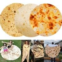 Hohe Qualität Mais Tortilla 1PC Bettwäsche Plüsch Bettdecken Heißer Verkauf Fleece Mexikanischen Burrito Decke Lustige 3D Für Bett Flanell decke