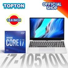 Topton Gaming Laptop 15.6inch Ultra Slim Intel Core i7 10510U i5 10210U Windows 10 Metal Notebook Computer PC Netbook AC WiFi BT