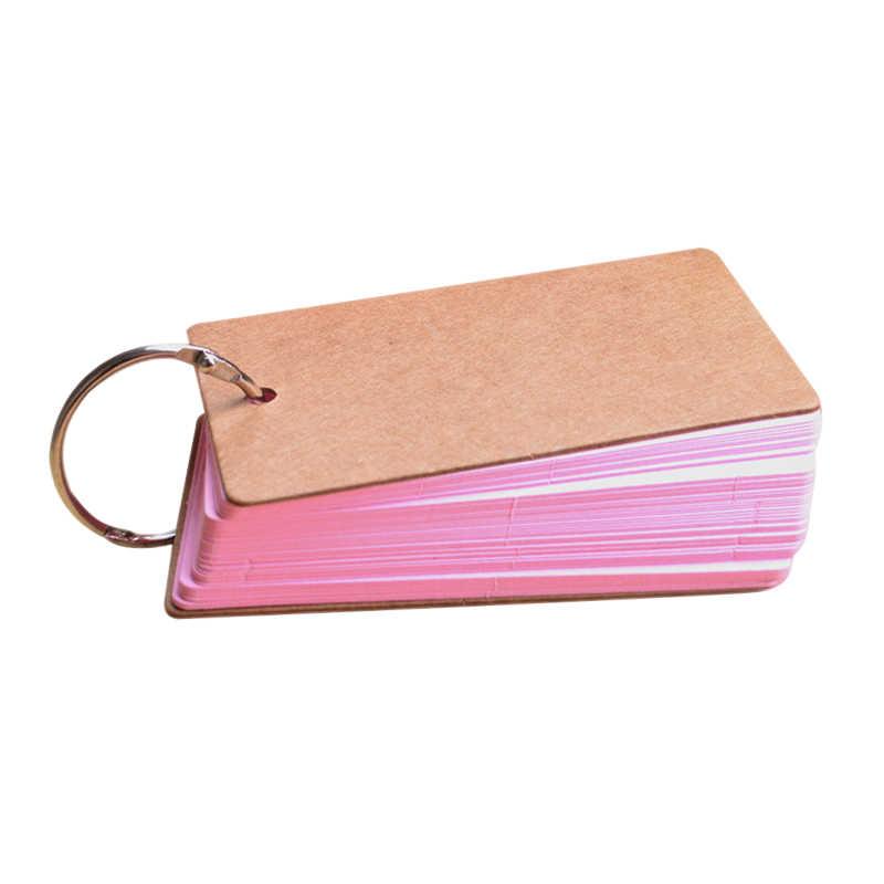 Portable Gesper Pengikat Catatan Kartu Flash Memo Bantalan DIY Kosong Alat Tulis TP899