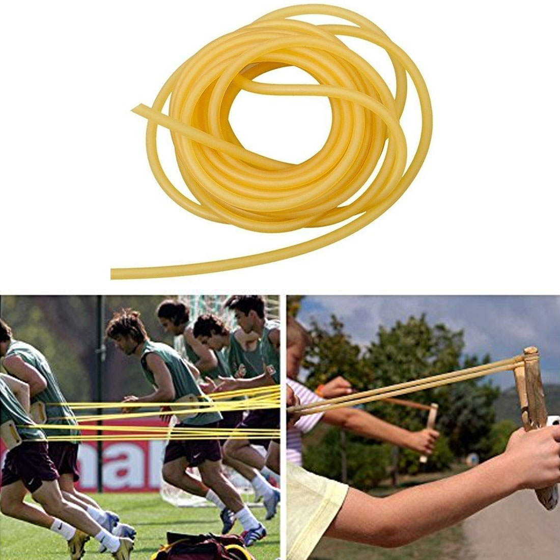 Hunting Accessories 1M 4mm X 6mm Latex Rubber Band Elastic Natural Tube Fishing Fitness Elastic Part Natural Latex Elastic Rope