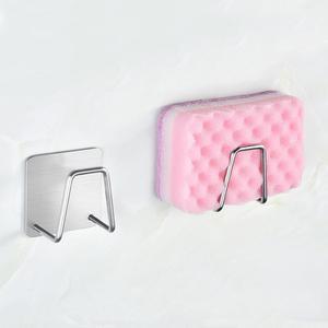 Kitchen Stainless Steel Kitchen Sponge Holder Brush Soap Dishwashing Liquid Drainer Kitchen Bathroom Sundries Organizers(China)