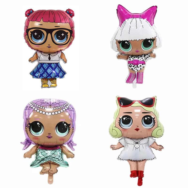L.O.L. ¡Sorpresa! Figura de Anime LOL, juguetes de globo, globos de aluminio para la habitación de la fiesta, juguetes para niñas, regalo de cumpleaños, 18 pulgadas