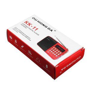 Image 3 - راديو K11 محمول صغير متعدد الوظائف قابل لإعادة الشحن رقمي FM USB TF مشغل MP3 مستلزمات أجهزة مكبر الصوت