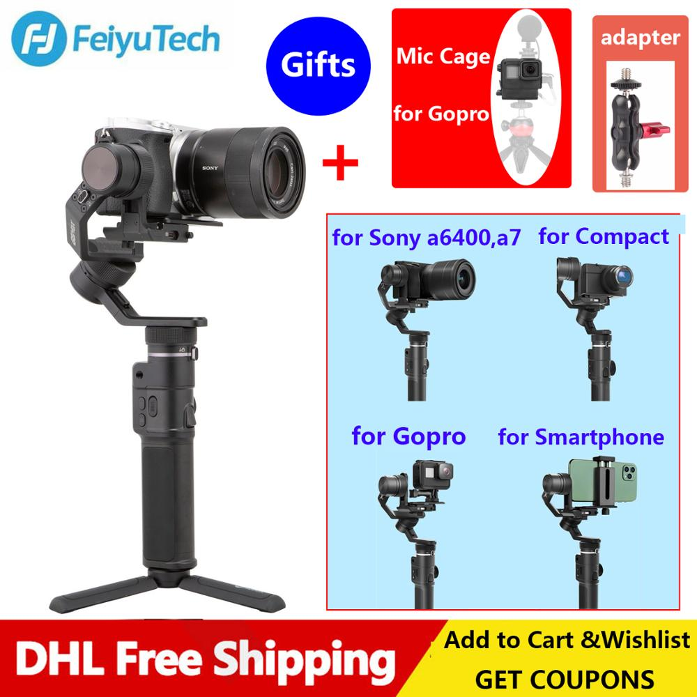 Feiyu G6 Max 3 Axis Handheld Gimbal Stabilizer For Sony A7/a6400 Mirrorless Camera/for GoPro Hero 7 6 5 Action Camera/Smartphone