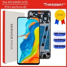 شاشة عرض LCD جديدة 6.15 بوصة بإطار لهاتف هواوي P30 Lite شاشة عرض LCD لهاتف هواوي P30 Lite شاشة Nova 4e MAR LX1 LX2 AL01