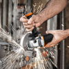 Worx 20V Mini Grinder WX800 115mm Cordless Angle-Grinder Electric Tools Grinding Machine Rechargerable 20V Powershare +Tool Case 5