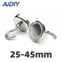AI DIY 1/3/5Pcs D25 Magnetic Hooks Strong Mini Heavy Duty Hanger Durable For Home Kitchen Refrigerator Office Neodymium Magnet