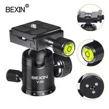 Caméra rotule vidéo dslr trépied tête montage mini rotule 360 degrés rotation panoramique tête pour trépied dslr caméra