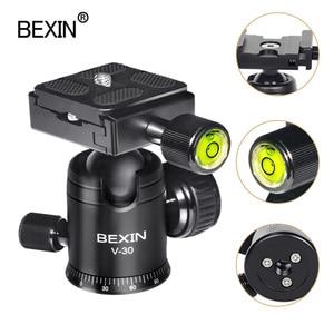 Image 1 - Videocamera testa a sfera video dslr treppiede montaggio su testa mini ballhead testa panoramica rotante a 360 gradi per fotocamera dslr treppiede