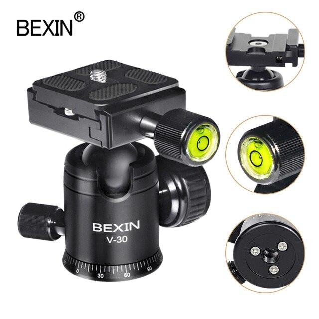 Videocamera testa a sfera video dslr treppiede montaggio su testa mini ballhead testa panoramica rotante a 360 gradi per fotocamera dslr treppiede