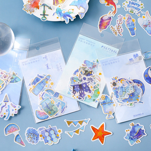 Image 1 - 20packs/lot Flash Label Stickers Have Your Starry Sky Series Toys For Children Sticker Pack eight Selections