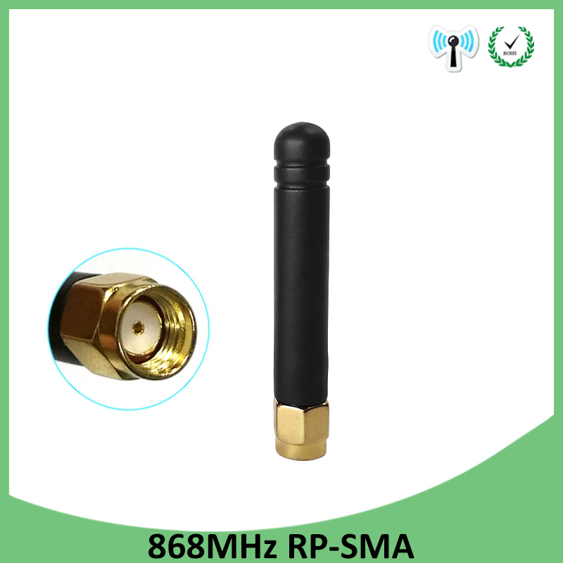 1pcs 868MHz 915MHz Antenna 3dbi RP-SMA Connector GSM 915 MHz 868 MHz Antena Outdoor Signal Repeater Antenne Waterproof Lorawan