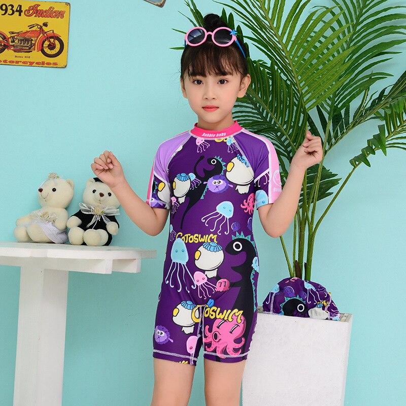 New Style KID'S Swimwear Girls Big Boy One-piece Cartoon Full Body Sun-resistant Beach Surfing Quick-Dry Ultra-stretch Swimwear