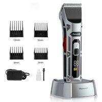 Tagliacapelli da barbiere F28 tagliacapelli professionale 1400mAh macchina per taglio di capelli 6500 giri/min lama in ceramica regolabile per taglio di capelli a batteria