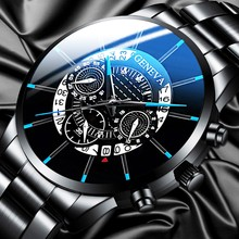 Relogio Masculino Watch Men Fashion Cool Unique Digital Literal Multi Layer Dial