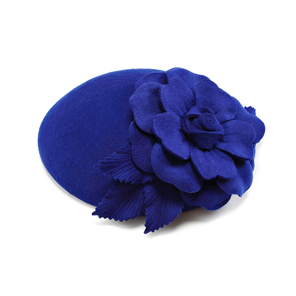 Fascinator Wedding Wool Hats For Women Elegant Blue Flower Cupid Pillbox Hat Vintage Cocktail Lady Church Fedoras Prom Party Hat in Women 39 s Fedoras from Apparel Accessories