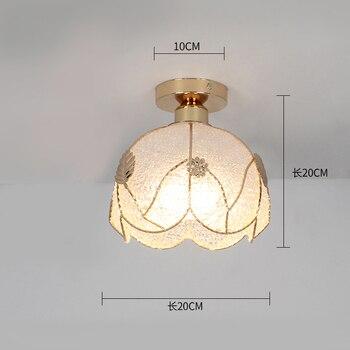 Ceiling lights Minimalist Retro Ceiling Lamp Glass E27 industrial decor  lamps for living room Home Lighting Lustre Luminaria 30