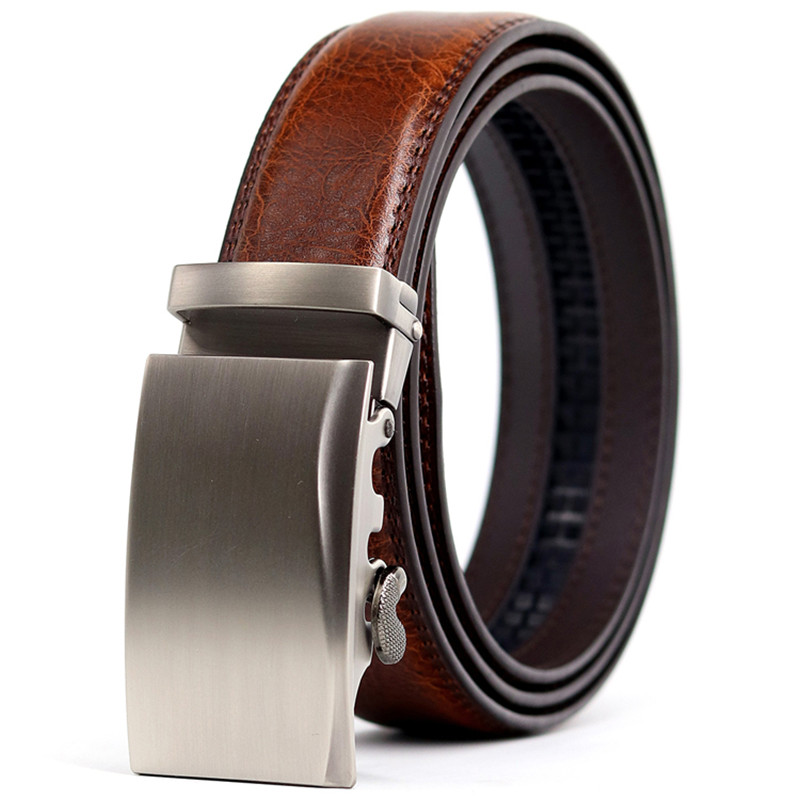 CETIRI  Top Cowskin Manufacturing Men's Belt Designer New Design Jeans With Belt High Quality Metal Simple Automatic Buckle