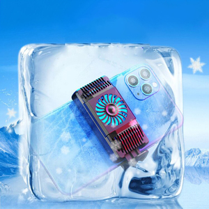Image 5 - Gerilebilir cep telefonu soğutucu yarıiletken radyatör soğutma fanı standı soğutma sıcaklık tutucu dilsiz iPhone Huawei için