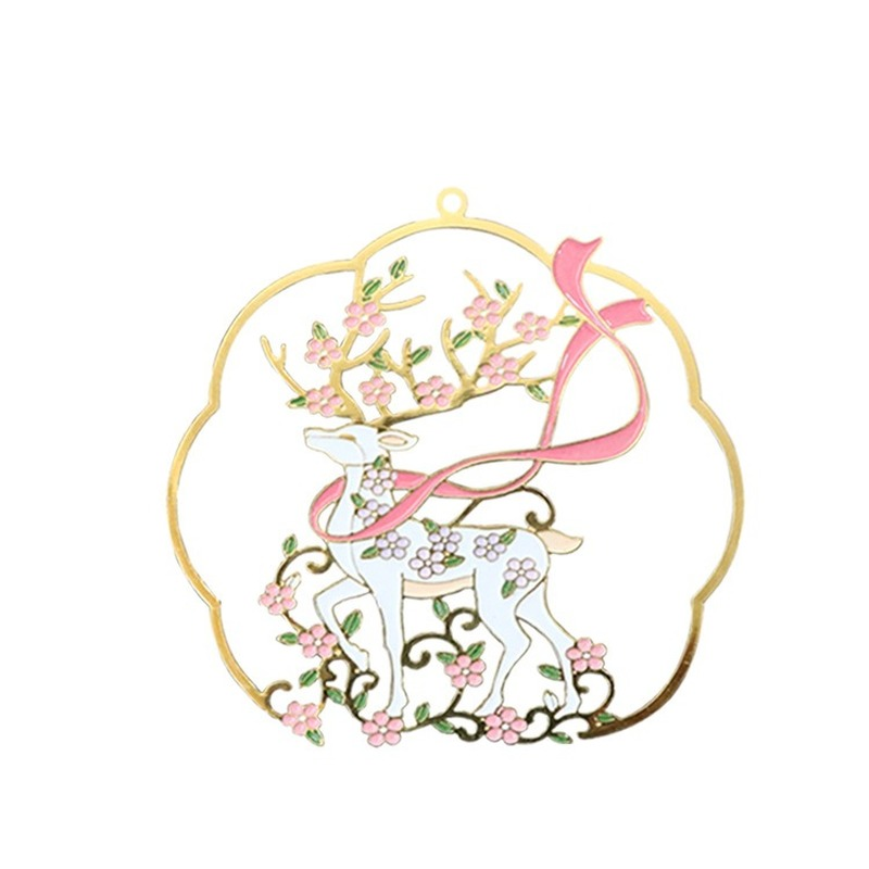 Metal Bookmark Kawaii Animal Sika Deer Cute Segnalibro Bookmarks For Books Kawaii Creative Teacher Gifts Brass Metal Book Marks
