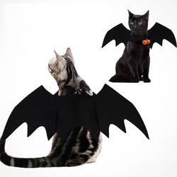 Halloween Cat Costumes Bat Wings Pet Costume for Cat and Small Medium Dogs Pet Clothes Vampire Black Funny Cool Apparel