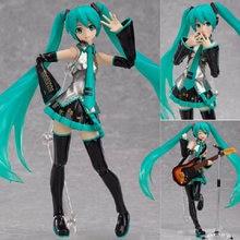 Figma 200 miku guitarra versão anime 15cm figura de ação modelo brinquedos