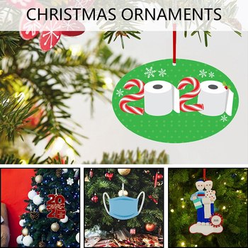 Hanging C-h-r-ist-m-a-s Ornament Personalized Ornament Holiday Party Home Decoration^^ image