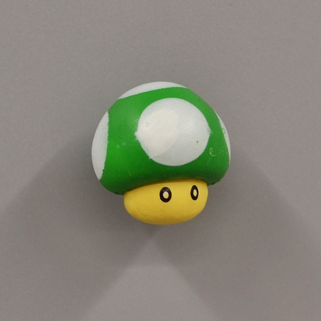 Fridge Magnet Set of Kawaii Smiling Mushrooms made with strong neodymium magnets in a gift tin 478