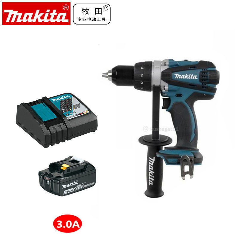 Makita DDF458 DDF458Z DDF458RME LXT 18V Li-Ion Cordless Mobile Heavy Duty Drill Driver 220~240V