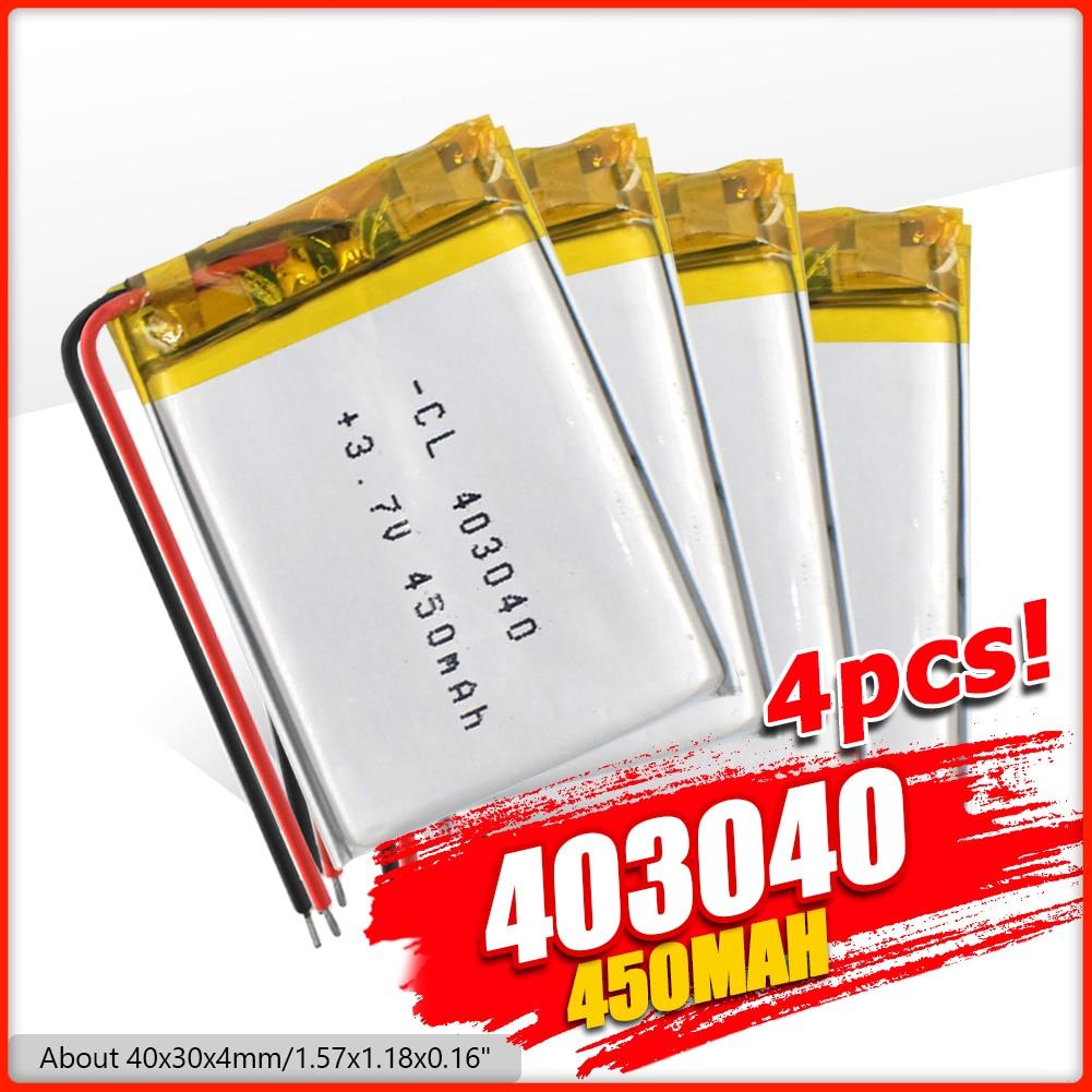 403040 3.7v 450mAh li-ion remplacement Lipo Lithium li-po polymère batterie Rechargeable pour tachygraphe Bluetooth haut-parleur caméra