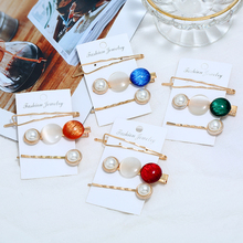 цена HOCOLE Imitation Pearl Metal Hair Clips For Women Korean Elegant Barrette Gold Hairpins Girls Hair Styling Accessories Jewelry