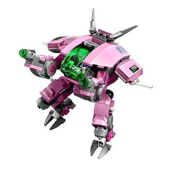 In Stock Games D.Va & Reinhardt with Lepining Overwatching 75973 Building Blocks Bricks Toys for Chlidren Gifts 2