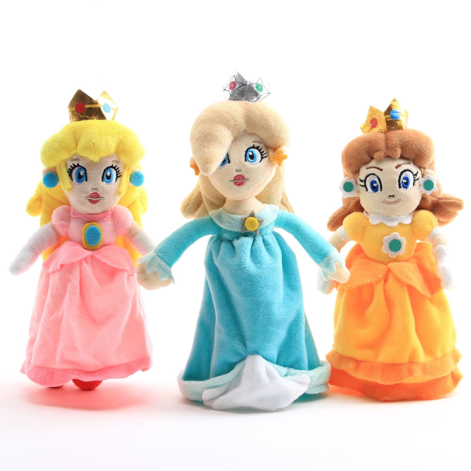 20cm Mario Series Lovely Princess Peach Rosalina Princess Daisy Rosalina Plush Toy Doll Children Kids Birthday Gift