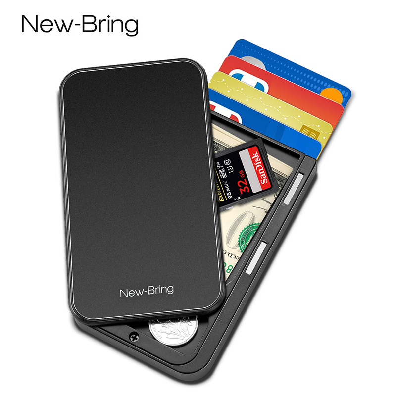 New-Bring Rfid Wallet Case Card-Holder Credit-Cards-Bank Men Purse Carbon-Fiber Minimalist title=